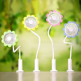 Wholesale Ceiling Clips - 2017 hot new fans The new sun flower clip fan convenient clip can be freely adjusted angle mini rechargeable fan fashion small fans