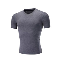 Wholesale Fast Knit - Running sports fitness clothes men's fast-drying bottoming shirt