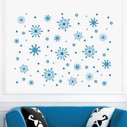 2019 autocollants congelés Joyeux Noël Belle Frozen Flocon De Neige Neige Stickers Muraux Fenêtre Décor À La Maison Décoratif Mur Autocollant Murale MC028 promotion autocollants congelés
