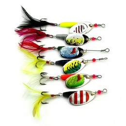 Wholesale Wholesale Fishing Spoons Lures - Hot sale Wholesale 6pcs Spoon Metal Fishing Lures Set Spinner Baits CrankBait Bass Tackle Hook Free Shipping