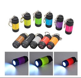 Wholesale Waterproof Usb Drive - 20pcs free ship USB Mini-torch Rechargeable LED Flashlight 25LM 0.3w Pocket USB Flashlight Waterproof Keychain flashlight Torches Lamp