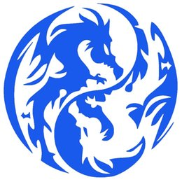 Wholesale Vinyl Dragon - Mysterious Ancient Tribal Dragon Totem Yin Yang Funny Car Sticker for Truck Window Bumper Home Car Cover Vinyl Decal JDM