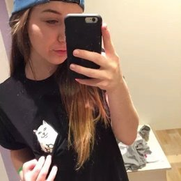 Wholesale Tshirt Woman Brand - Fashion New ZSIIBO Brand Pocket cat t shirts for women casual cheap cat t-shirt short sleeve crew tops plus size tshirt NV09 RF