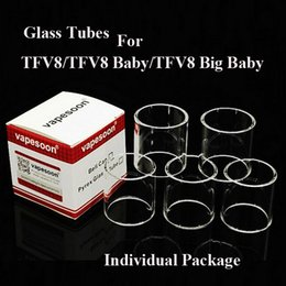 Wholesale Shipping Options - Glass Tubes for TFV8 TFV8 Baby TFV8 Big Baby Tank Different Colors for Options DHL Free Shipping