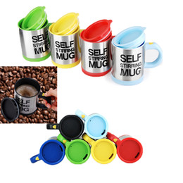 Wholesale Coffee Mixer - Self Stirring Coffee Cup Mugs Electric Coffee mixer Automatic Electric Self Stirring Mug Coffee Mixing Drinking Cup mixer 400ml