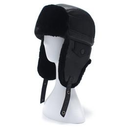 Wholesale Hat Ushanka - Wholesale- 2017 New arrival Men's Winter Fur hats Ushanka Outdoor Earflap Keep Warm Snow Caps Women Cap Face Mask Man's Cycling Hat Ski Hat