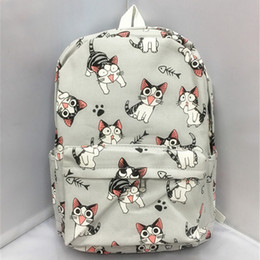 Wholesale Cute Cat Anime - Wholesale- Cartoon Chi's Cat Backpack School Bags Chi's Sweet Home Anime Cosplay Cute Cat Rucksack Schoolbag for Kids Daypack