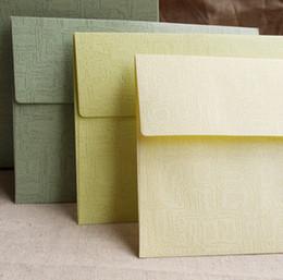 Wholesale Airmail Postcard - Wholesale- New Design Pure Color Paper Airmail Envelope Postcards Protection 17.5*12.5cm Wholesale Business Kraft Envelope Stationery PL