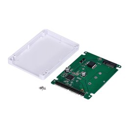 "Wholesale Ide 44pin - Wholesale- Portable external storage M.2 NGFF SSD to 2.5"" IDE,M.2 NGFF (SATA) SSD to 2.5 PATA IDE 44PIN adapter card with case for Laptop"