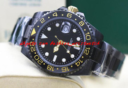 Wholesale Dlc Pvd - Fashion Luxury Black II Life Ceramic Bezel 116710 In DLC PVD Automatic Mechanical Men Watches Top Quality