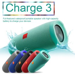 Wholesale Hifi Outdoor Speakers - JL CHARGE3 Portable Radio Speaker Bluethooth Speaker HIFI Super Bass Music Box Hand Free USB Power Bank Waterproof Bluetooth Speaker