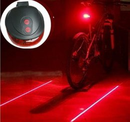 Wholesale Laser Cycle Lights - Newest 5LED+2Laser Cycling Safety Bicycle Rear Lamp waterproof Bike Laser Tail Light Headlight Warning Lamp Flashing Lampfair