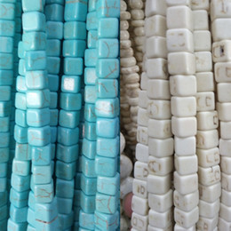 Wholesale movie shows - 5 6 8 10mm Natural Stone Turquoises Beads Loose Spacer Beads fit for Bracelet Necklace DIY Craft Handwork Show Material Stone Bead