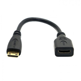 Wholesale Extension Hdmi Male Female - (100pieces lot) Mini HDMI C Type 1.4 Male to Mini HDMI 1.4 Female C Type Extension Cable 10cm short wire for Laptop PC HDTV