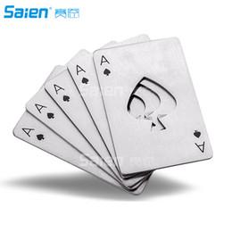 b7cc8c70b4a7c Yeni Bar Aracı Şişe Soda Bira Kap Açacağı Hediye Oyun Kartı Maça Poker Ace  Kredi Kartı Boyutu Casino Şişe Açacağı