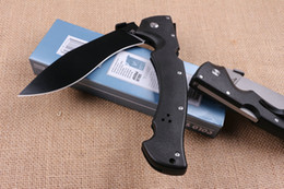 Wholesale Rescue Tactical - COLD STEEL RAJAH II Huge Tactical Folding Knife D2 Blade G10 Handle Outdoor Survival Rescue Pocket Knife Military Utility EDC Dogleg Knife