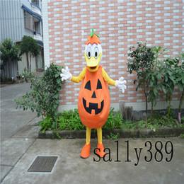 Wholesale Mascot Pumpkin - 2017 new adult animal pumpkin duck Halloween stage performance mascot doll costume props costume adult size