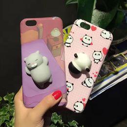Wholesale 3d Panda Iphone Case - squishy cat cartoon animals love panda beard bear kneading 3d joy doll tpu cell phones case For Iphone6 6s 6plus 6splus 7 7plus