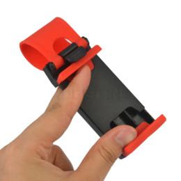 Soporte móvil de dirección online-Universal Car Steering Wheel Clip Mount Holder Soporte para teléfono móvil para MP4 GPS para Samsung Galaxy S6
