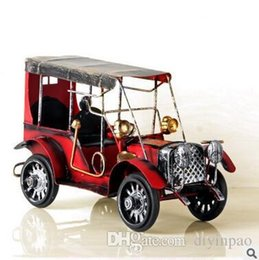 Wholesale Iron Art Car - Restoring metal handicrafts tin car Model articles Creative home decorative iron car Arts and Crafts birthday gifts