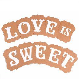 Wholesale Love Sweet Wedding Banner - Wholesale- Warm Romantic LOVE is SWEET Wedding Banner Party Decoration Photo Prop Engagement