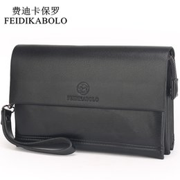 Wholesale Famous Coins - FEIDIKABOLO Famous Brand Men Wallets Male Leather Purse Men's Clutch Wallets Carteiras Billeteras Mujer Clutch Man Handy Bags