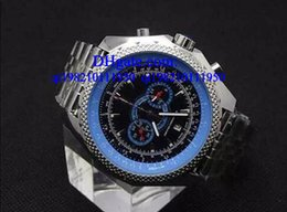 Wholesale Leather Wrist B - Luxury watches Free box floding Mens blue Dial Japan Chronograph Sport Wrist Supersports ISR Men's Watches FLYING B Motors Watch
