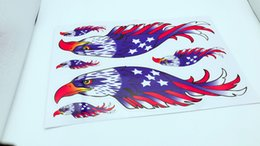 Wholesale Vinyl Sticker Macbook - American Eagle Flag Wings Sticker Decal Ships from USA car bike bumper macbook Personalized Sticker Scratch stickers