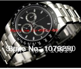Wholesale Eta Watches - Top Quality Luxury Watches Wristwatch Eta 7750 Movement 116520 Black Dial Automatic Chronograph Mens Men's Watch Watches