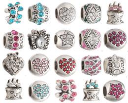 Wholesale Millefiori Murano Glass Bracelets - 20pcs Fits Pandora Charm Bracelet Mixed Charm Beads 925 Sterling Silver Murano Glass Bead Enamel Loose Charms For Diy European Snake Chain