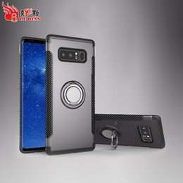 Wholesale Mobile Cover Magnet - Vehicle Mounted Magnet Adsorption Carrying Mobile Case Cover For New Model Note8 J7Prime J5Prime J3Prime J7 2017 Cell Phone Protective Cases