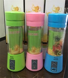 Wholesale Ice Blender Machine - juicer machine Portable Electric Fruit Juicer Cup Vegetable Citrus Blender Juice Extractor Ice Crusher with USB Connector