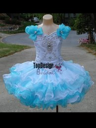 Wholesale Make Tutu Cake - Wholesale new 2017 beautiful scoop neck tutu skirt cup cake little girl pageant birthday dress style UF1020