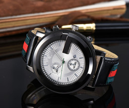 Wholesale Leather Men Watches - 2017 Set auger leisure fashion New Luxury brand sport Watches men Casual Fashion quartz watch6
