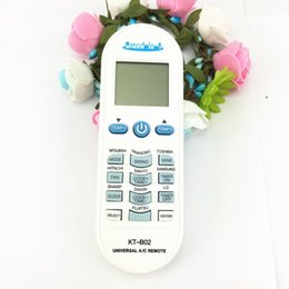 remote control kt Promo Codes - Wholesale- Air Conditioner air conditioning universal remote control suitable for TOSHIBA PANASONIC SANYO NEC FUJITSU LG kt-b02