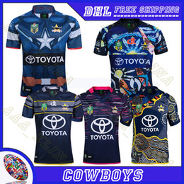 Wholesale Black Cowboy Shirt - wholesale cowboys Rugby Jerseys 2017 cowboys Jersey 17-18 Season cowboys Men Rugby shirt 2016 S-3XL Rugby uniforms Free shipping
