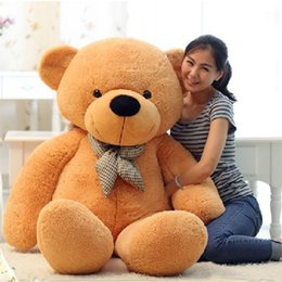 Wholesale Plush Soft Toys - New Arriving Giant Right-angle measurements 200CM 78''inch TEDDY BEAR PLUSH HUGE SOFT TOY Plush Toys Valentine's Day gift 5 color brown