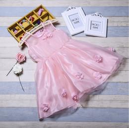 Wholesale Korean Girls Gown - (10 piece) 2017 summer new children's dress girls dress Korean children's clothing flowers girl dress princess skirt free shipping