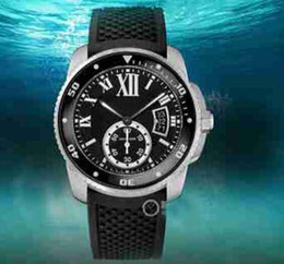 Wholesale Digital Watc - 2017 Hot Sell AAA Top Quality Diver W7100056 Auto 42mm Stainless steel Mens Strap Watch Date Men's Sport Wrist Watches Rubber Band Mens Watc