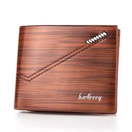 Wholesale Japan Wholesale Chocolates - Hot Sale Vintage PU Leather Men's Wallets Bevel Striped Texture Quality 3 Folds Middle Hard ID Credit Card Holder Purses Wallet Carteira