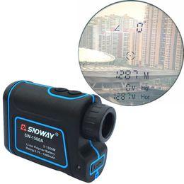 Wholesale Protable Laser - 1500M Golf Laser Rangefinder Protable Outdoor measurement Tool Distance Meter Telescope SW-1500A