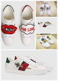 Wholesale Pineapple Love - Luxury Brand Designer Low Cut Women Men Big Kids Genuine Leather Fashion Casual Flat Shoes Tiger Pineapple Blind for Love Removabl