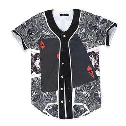 Wholesale Poker T Shirts - 3D T shirts New Fashion Men Women 3d T-shirt Funny Print Poker Red Hearts A Summer Tops Tees Jersey Button Shirts
