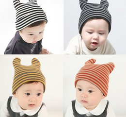 Wholesale Grass Paper Gift - INS Baby cartoon Caps Kitty Woolen Yarn Autumn Winter Beanies Knitted Girl Gifts Infant Hats Cute Rabbit Ears Hats 12 Colors LC645