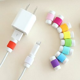 Wholesale Ipad Earphone Charger - Cable Protectors USB Lightning Data Charger Cable Silicone Colorful Earphone USB wire cord protectors Iphone 5s 6s 6 plus 7 ipad