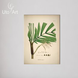 Wholesale green trees wall canvas - Modern Picture Wall Art Painting Canvas Prints Green Leaf With Tree Stems Spray Print Decorations for Home Canvas Paintings