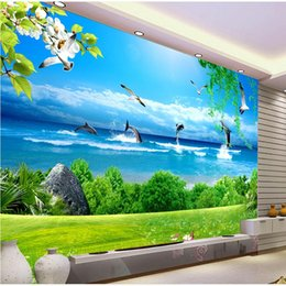 Wholesale fiberglass wall coverings - papel de parede 3D Custom Mural Wallpaper Wall Covering Living Room Sofa TV Backdrop Wall Papers Home Decor painting