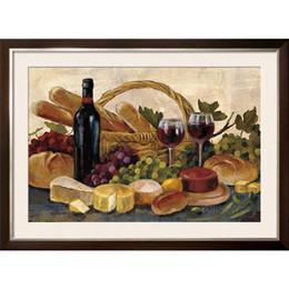 Pintura abstrata do vinho on-line-Pinturas a óleo ainda vida moderna Silvia Vassileva Toscana Evening Wine Crop arte abstrata para decoração da parede pintados à mão