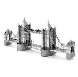 Wholesale Tower Bridge Model - London Tower Bridge 3D Metal Puzzle DIY Kids Toys Tower Model International Architecture Assembly Jigsaw Puzzle