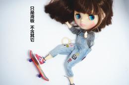 Wholesale Wholesale Blythe Dolls - Doll use skateboard for Blythe doll AZONE 1 8 BJD doll accessories